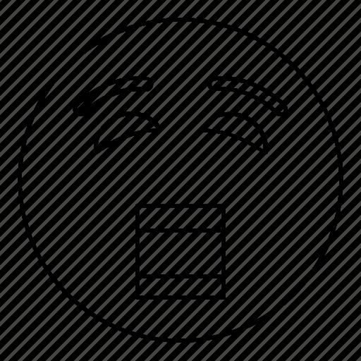 blink, emoji, emoticon, face, scream, smiley, yell icon