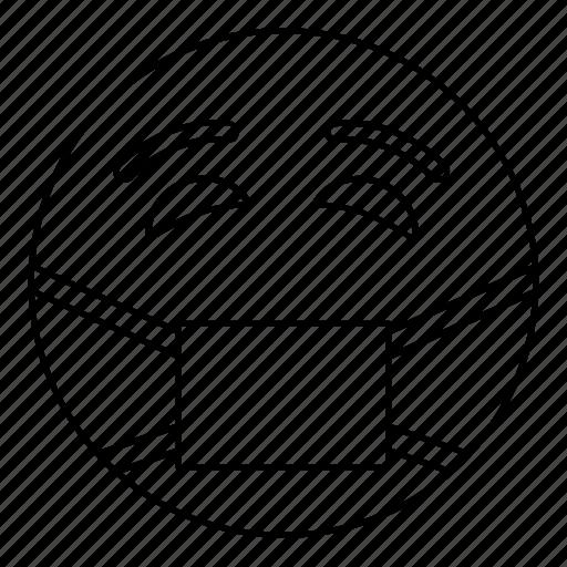 doctor, emoji, face, health, mask, sick, smiley icon
