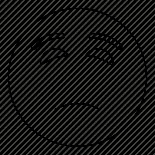 Emoticon, sad, smiley, face, feeling, emoji icon