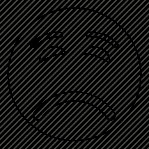 emoji, emoticon, face, feeling, sad, smiley icon