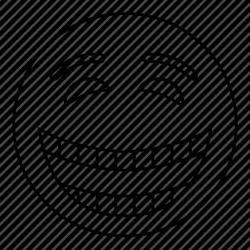 emoji, emoticon, face, feeling, happy, smile, smiley icon