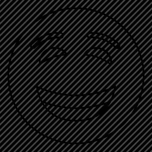 emoji, emoticon, face, smiley icon