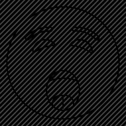 Emoticon, smiley, face, yell, scream, emoji icon - Download