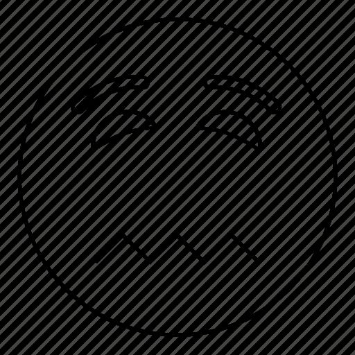 emoji, emoticon, face, nervous, smiley icon