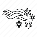 blizzard, climate, cloud, sky, snowflake, storm, weather icon
