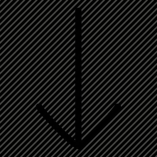arrow, arrow down, down icon