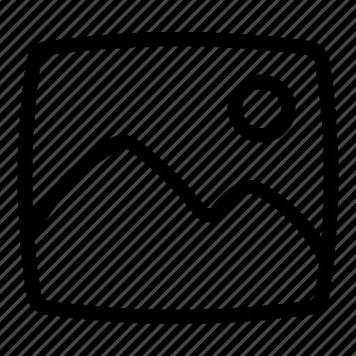 format, gallery, image, jpg, scenary icon