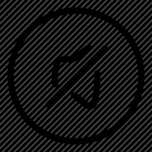 circle icon, multimedia, mute, no audio, no music, no sound, no volume icon