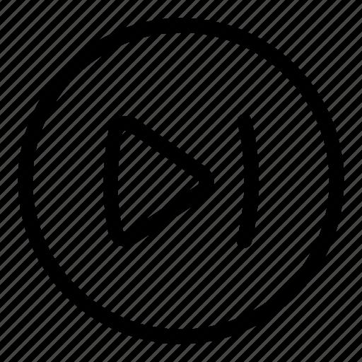 circle icon, go to last, music, next, skip, skip to end, track icon