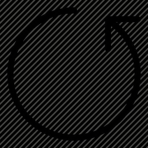 circle icon, re, redo, reload, reply, resync icon