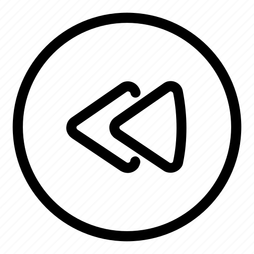 circle icon, reply, rewind, rewind music, rewind song, rewind track, rewind video icon