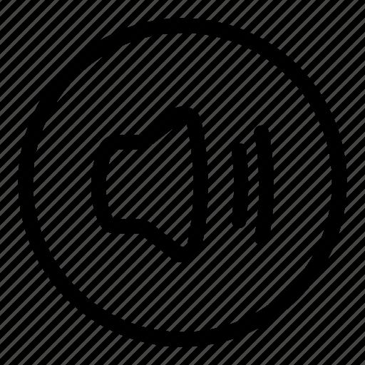 circle icon, full volume, music, sound, volume icon