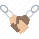 agreement, blockchain, cryptocurrency, handshake icon
