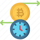 block, chain, crypto, cryptocurrency, timestamp, transaction icon