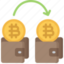 bitcoin, block, chain, cryptocurrency, trade, wallet icon