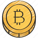bitcoin, block, chain, cryptocurrency icon