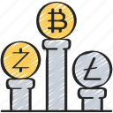 block, chain, crupto, currency, data icon