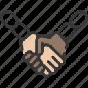 agreement, blockchain, cryptocurrency, handshake icon