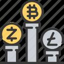 block, chain, crupto, currency, data icon