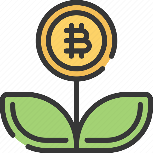 block, chain, crypto, cryptocurrency, growth icon