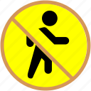 block, no thoroughfare icon