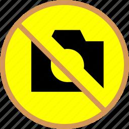 block, camera, no shot icon