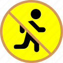 block, run icon