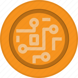 bitcoin, blockchain, cryptocurrency, currency, digital, fintech, technology icon