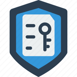 encrypt, key, lock, privacy, protect, secure, shield icon