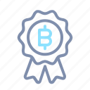 award, badge, block, blockchain, cryptocurrency, prize, reward icon