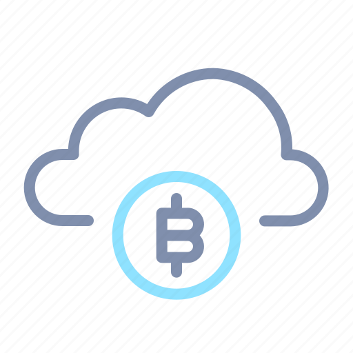 bitcoin, blockchain, cloud, cryptocurrency, data, digital currency, storage icon