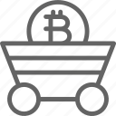 bitcoin, blockchain, coin, cryptocurrency, miner, network, trolley