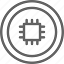 bitcoin, blockchain, coin, cryptocurrency, illustration, motherboard, network icon