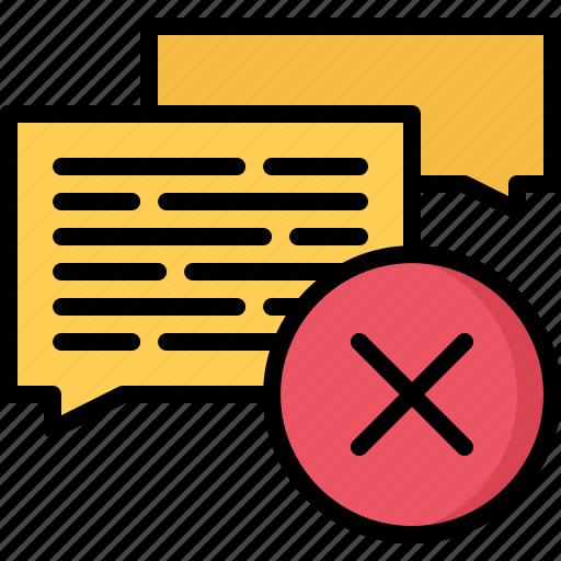 ban, blog, comment, delete, network, remove, social icon