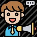advertising, marketing, strategy, megaphone, announcement