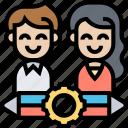 brand, collaboration, coworker, teamwork, partnership