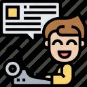 copywriter, patent, novel, typing, author