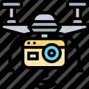drone, camera, aerial, view, recording