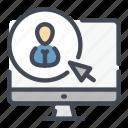 blogger, click, computer, online, person, profile, user icon