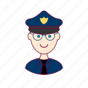 .svg, blonde man, european man, job, police officer, policial, polícia, profession, professional, profissão icon