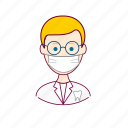 .svg, blonde man, dentes, dentist, dentista, european man, job, profession, professional, profissão, teeth icon