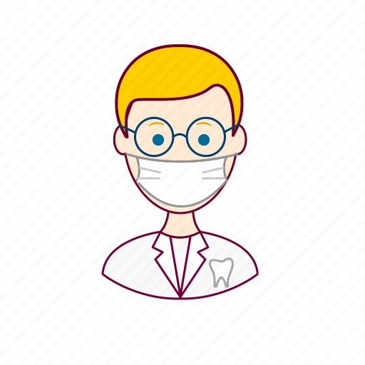 .svg, blonde man, dentes, dentist, dentista, european man, job, profession, professional, profissão, teeth icon
