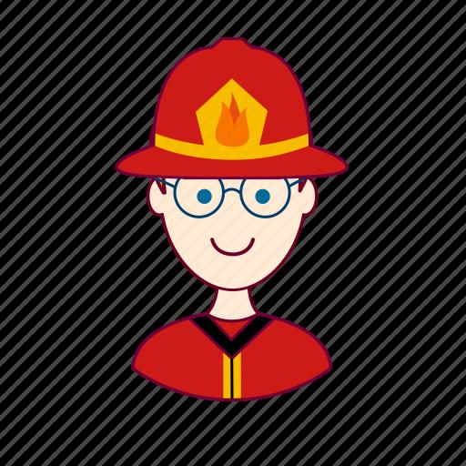 .svg, blonde man, bombeiro, european man, firefighter, fireman, job, profession, professional, profissão icon