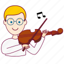 .svg, blonde man, european man, job, musician, músico, profession, professional, profissão icon