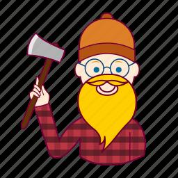 .svg, blonde man, european man, job, lenhador, lumberjack, profession, professional, profissão icon