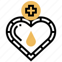 badge, blood, donation, healthcare, medical icon