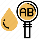 blood, checking, donation, medical, searching icon