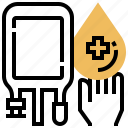 blood, donation, healthcare, medical, sharing icon