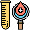 blood, checking, donation, healthcare, test icon