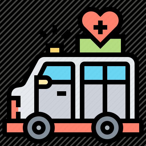 ambulance, blood, car, donation, vehicle icon